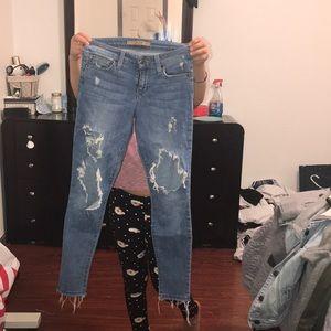 Pants distressed
